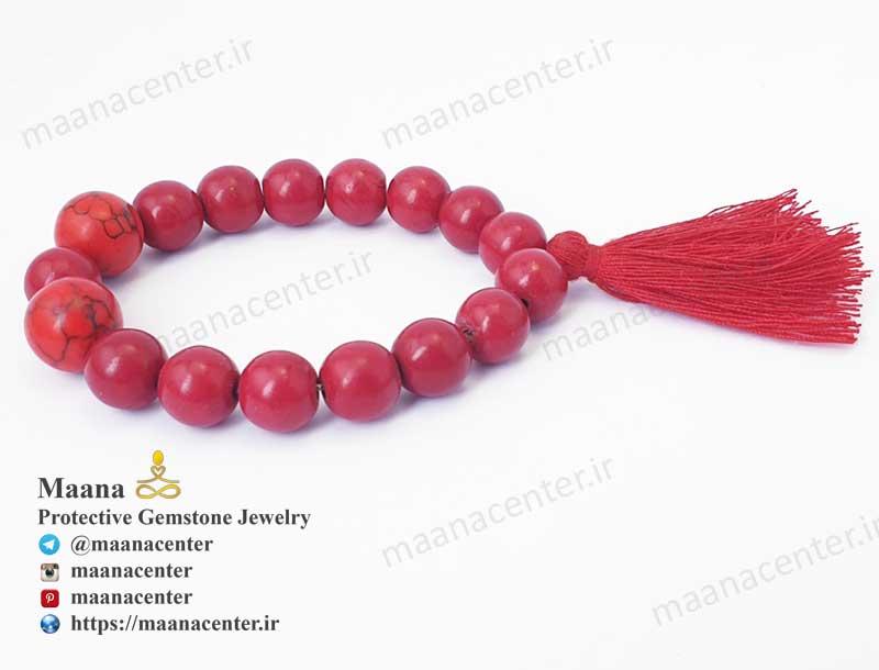 دستبند مرجان قرمز